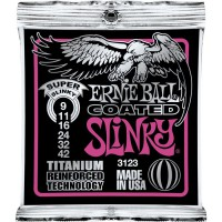 Ernie Ball 3123 Coated Electric Super Slinky 9-42