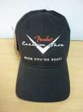 Кепка Fender Custom Shop Stretch Cap, Black, L/XL